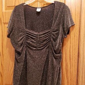 onyx -Nylon black-metalic blouse